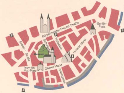 mapa města Tachau